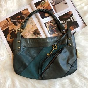 Fossil Fifty Four Whitney Leather Shoulder Bag